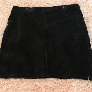 Hue black corduroy miniskirt
